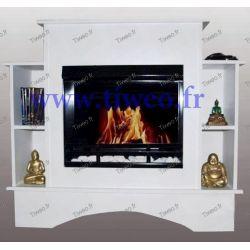 Fireplace ethanol + furniture + shelves