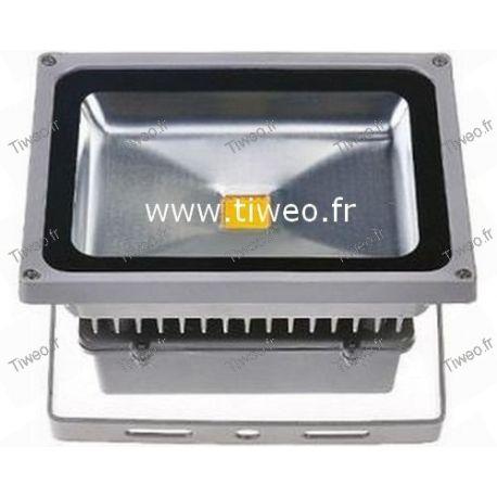 Potente holofote LED branco frio de 30 W