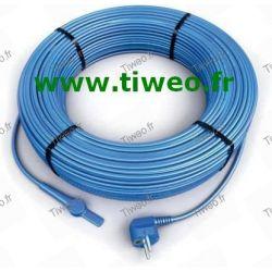 Cable anticongelante m 2 de calefacción con termostato