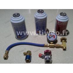 Kit ricarica aria condizionata + perdita di sigillare tutti i veicoli