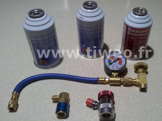 Kit Nachfüll-Klimaanlage + Leck zu versiegeln aller Fahrzeuge