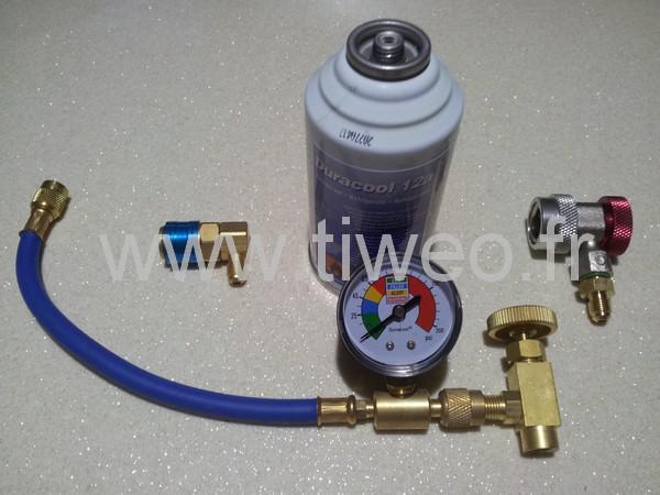 Laden Sie eine Klimaanlage Gas mit der passenden R134a R12 Kit