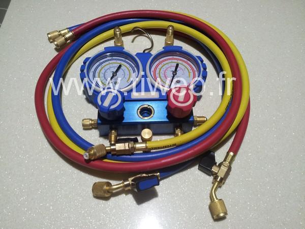 colector 2 vías con caja y cierre válvulas de indicador