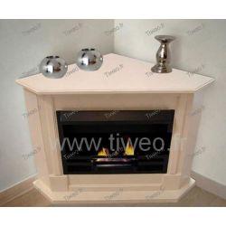 Fireplace ethanol corner cream color