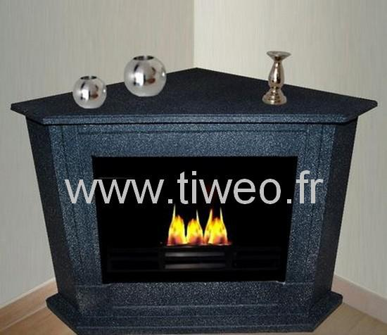 Winkel-dunklen Granit-Ethanol-Kamin