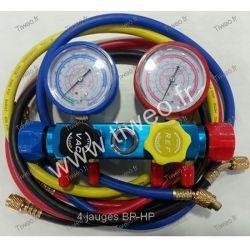 Collettore aria condizionata 4 calibri BP - HP