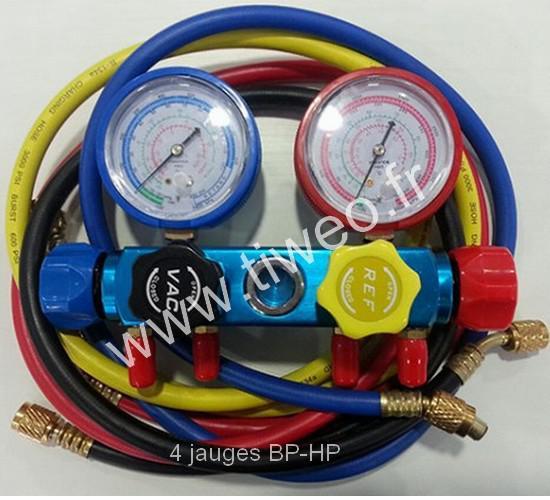 Manifold climatisation 4 jauges BP-HP