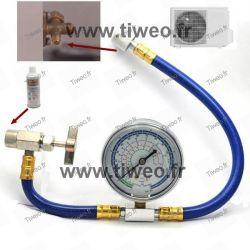 Kit Recharge gaz R22 x2 avec flexible (gaz 22a)
