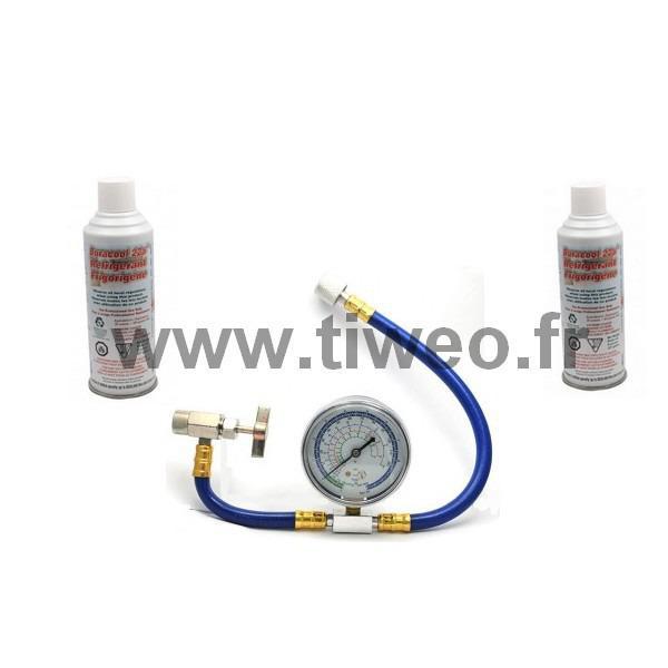 Ricarica gas R22 x 2 con flessibile (gas 22) Kit