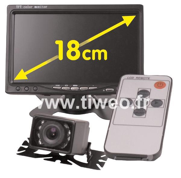 Cámara de visión trasera de espejo video