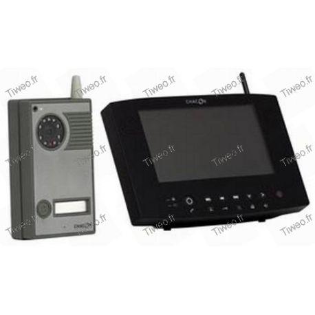 Interphone vidéo couleur Digital Sans Fil + écran portée 200 mètres