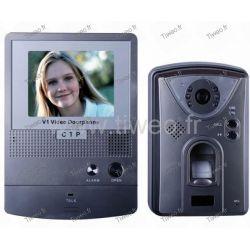 Farbvideotür-Eingangseinheit mit biometrischer Steuerung