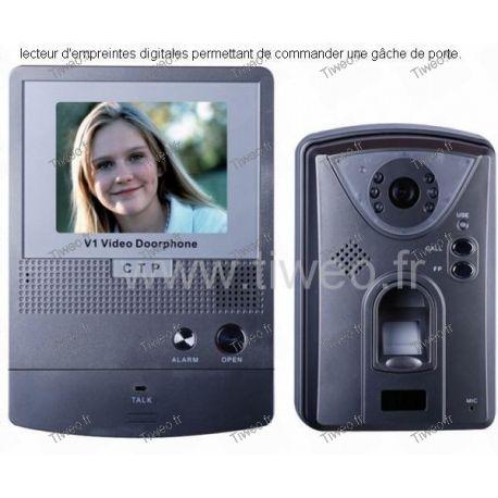 Portier vidéo couleur à commande biométrique