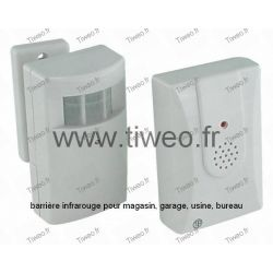 Detector de infravermelho sem fio com sinal sonoro