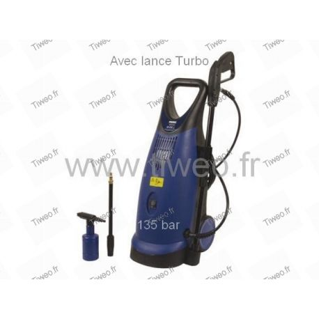 135 bar high pressure washer with turbo lance