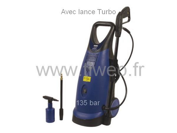 High-pressure cleaner with 135 bar with turbo nozzle
