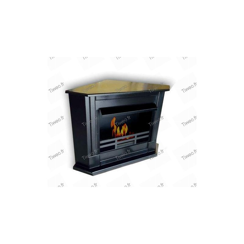 Ethanol corner fireplace chimney corner color black cheap ethanol