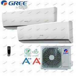 9000 BI-Split-Klimaanlage + 12000 BTU Inverter