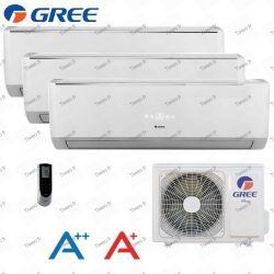 Pumpe Hitze Tri - 9000 + 9000 + 9000 BTU Inverter aufgeteilt