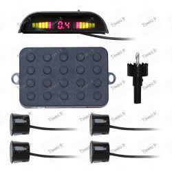 Umkehrradar mit 4 Sensoren und Display