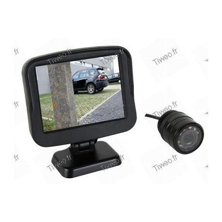 Câmera de ré com tela para veículo