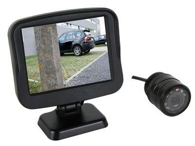 Com tela para câmera de retrovisor do veículo