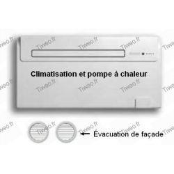 Luftkonditioneringen utan utomhusdel med värmepump