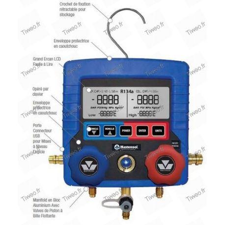 Manifold numérique R134 a pour clim auto