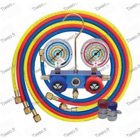 Manifold pour R134a, R404A, R407C, R22, R507A