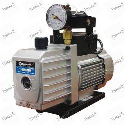 Vakuum dubbel pump golv 141 L/min med vakuum mätare