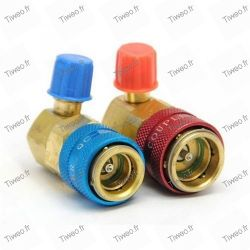 Quick-connect coupling for R134a, lot of 2 HP and BP