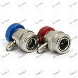 Lot of 2 Fittings fast for R134a HP and BP