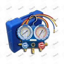 2-way manifold with indicator box and shutoff valves