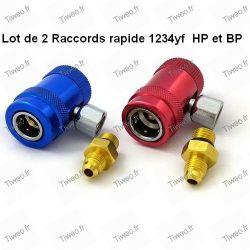 Lot de 2 Raccords rapides pour 1234yf HP et BP