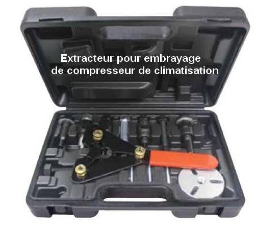 Kit extracteur d'embrayage de climatisation