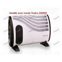 Radiateur électrique ventilé avec turbo et minuterie