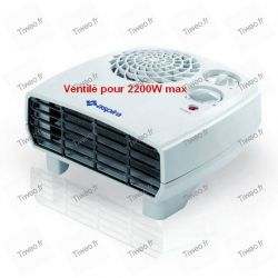 Elektrisk värmare ventilerade med turbo och timer