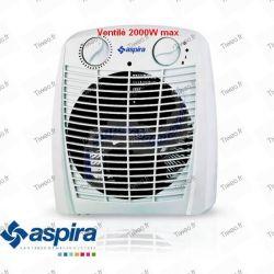 Chauffage d'appoint ventilé 2000W