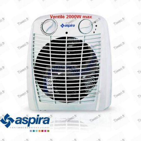 Aquecedor elétrico ventilado 2200W barato