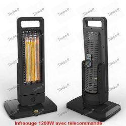 Riscaldatore infrarosso 1200W con telecomando