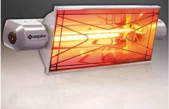 Aquecimento radiante infravermelho de 1300W