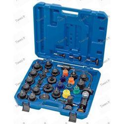 Leak tester and pressure-engine