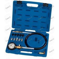 Calibre de pressão do testador e óleo