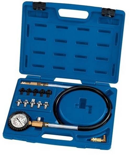 Medidor de presión de aceite y probador