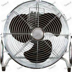 Cromo de 45 cm de ø de ventilador de la inclinación
