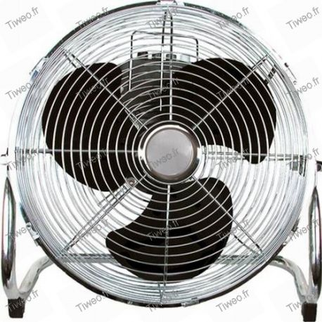 Ventilateur inclinable chromé de ø 45 cm