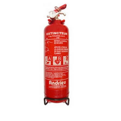ABC, extintor de incêndio de pó 1 kg
