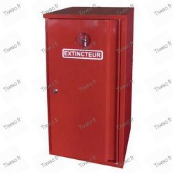 Metal cabinet for fire extinguisher