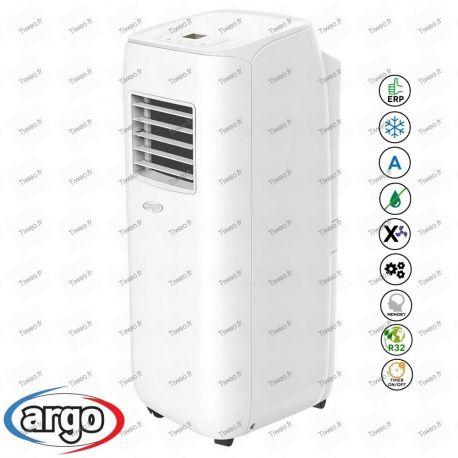 Ar condicionado portátil de 10.000 BTU com controle remoto classe A