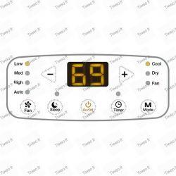 10.000 BTU bärbar luftkonditionering med klass A fjärrkontroll